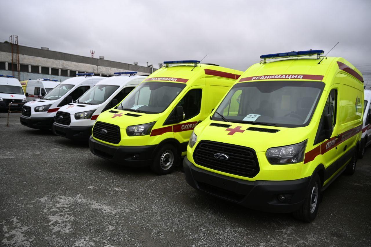 12 новых автомобилей «Скорой помощи» прибыли в Челябинскую область