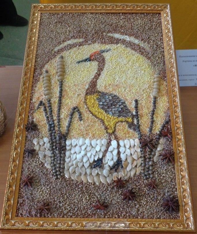 равна поделка из зерна птица правильно проводить